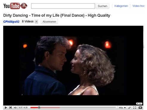 Dirty Dancing – Time of My Life © YouTube