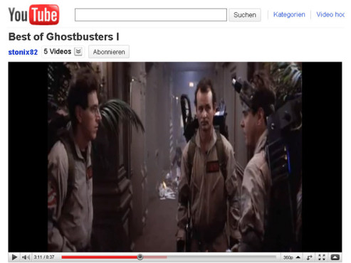 Ghostbusters � Er schleimte mich voll © YouTube