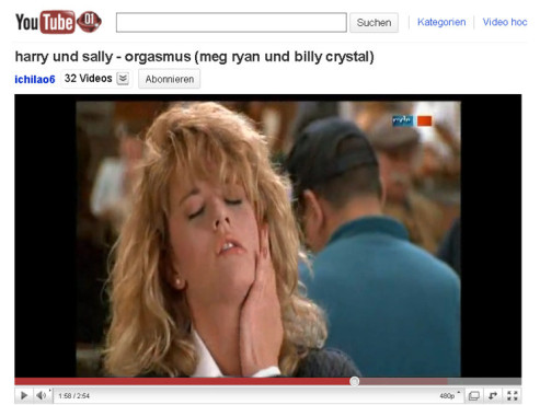 Harry & Sally – Der Restaurant-Orgasmus © YouTube