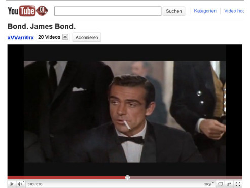 James Bond – 007 jagt Dr. No – Bond, James Bond © YouTube