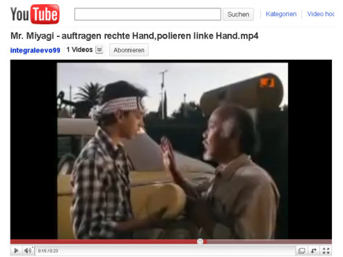 Karate Kid – Auftragen, polieren © YouTube