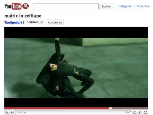 Matrix – Bullet Time © YouTube