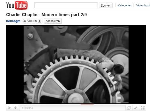 Moderne Zeiten – In den Zahnrädern ©YouTube