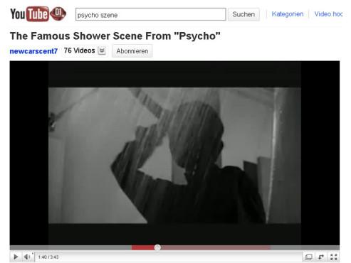 Psycho – Die Duschszene ©YouTube