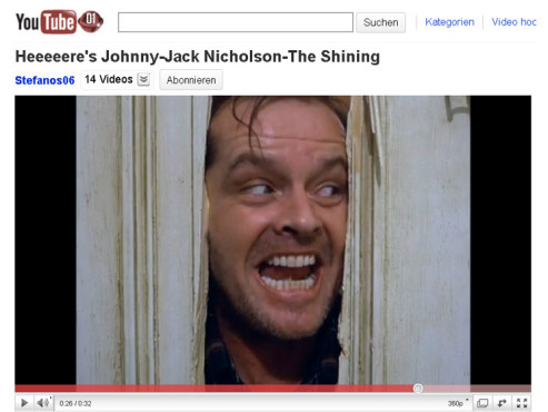 Shining – Hier ist Johnny © YouTube