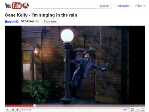 Singin' in the Rain – Der Tanz im Regen © YouTube