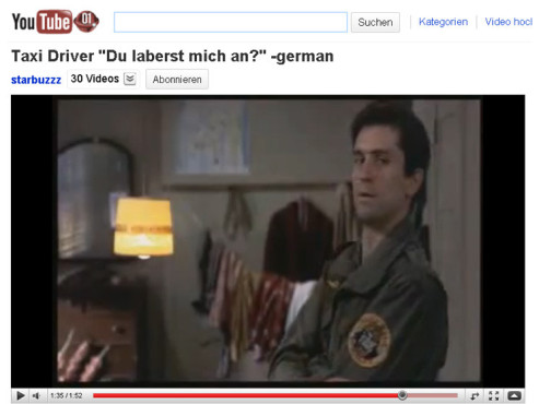 Taxi Driver � Du laberst mich an? © YouTube
