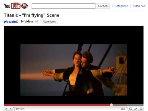 Titanic – Ich bin der König der Welt! ©YouTube