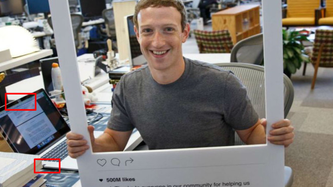 Mark Zuckerberg klebt Notebook-Kamera ab © Facebook, Mark Zuckerberg