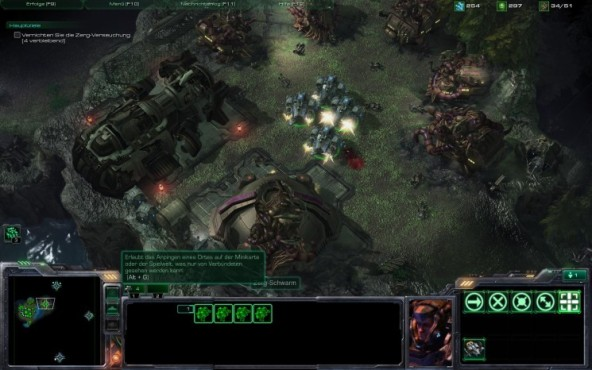 Starcraft 2 – Wings of Liberty: Auswahl © Blizzard