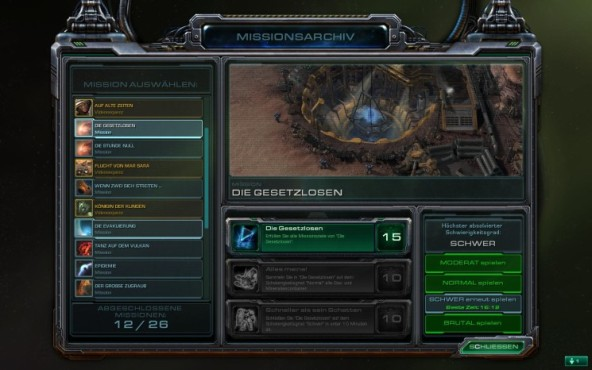 Starcraft 2 – Wings of Liberty: Missionsarchiv © Blizzard