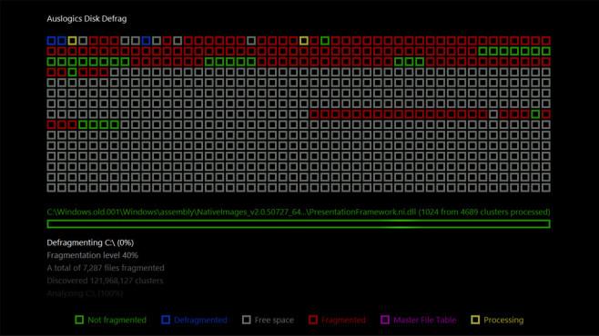 Auslogics Disk Defrag ScreenSaver ©COMPUTER BILD