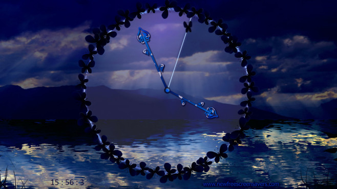 Dark Butterfly Clock ©COMPUTER BILD