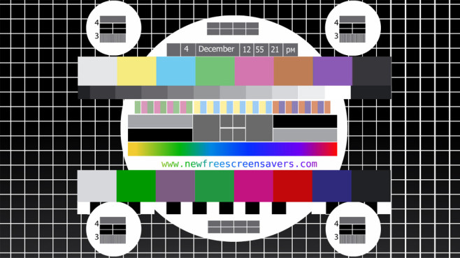 Platz 94: Test Card TV Screensaver © COMPUTER BILD