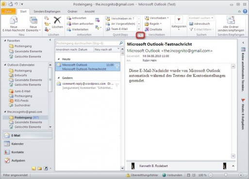 Office 2010: Quicksteps einrichten