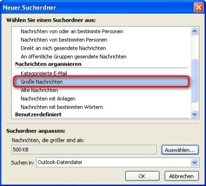 Office 2010: Suchkriterien festlegen