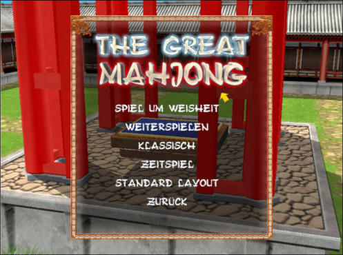 Great Mahjong: Spielvariante festlegen