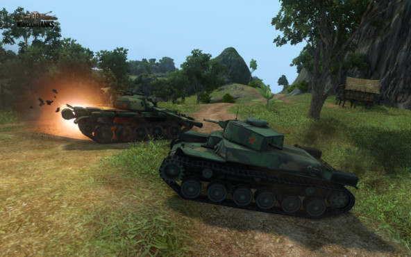 Actionspiel World of Tanks: Chinese © Wargames