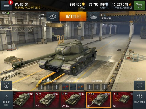 World of Tanks – Blitz: Hangar © wargaming.net