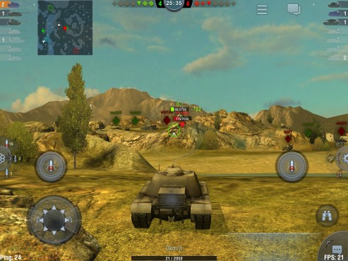 World of Tanks – Blitz: User Interface © wargaming.net
