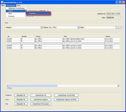 Mediathek: FLVstreamer installieren