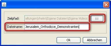Mediathek: Speicherort und Dateinamen bestimmen