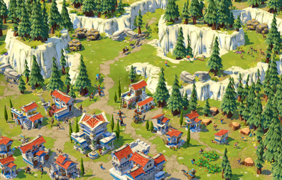 Strategiespiel Age of Empires Online: Berge © Microsoft
