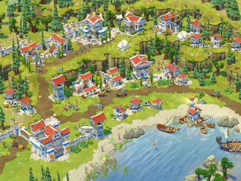 Strategiespiel Age of Empires Online: Hafen © Microsoft