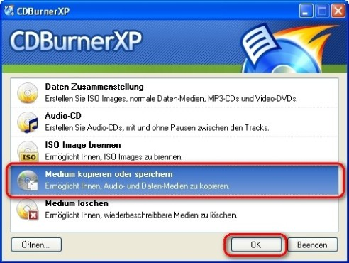 CDBurnerXP: CDs und DVDs kopieren
