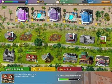 Klick-Management-Spiel Build-a-lot – On Vacation
