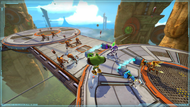 Geschicklichkeitsspiel Ratchet and Clank – All 4 One: Koop-Modus © Sony