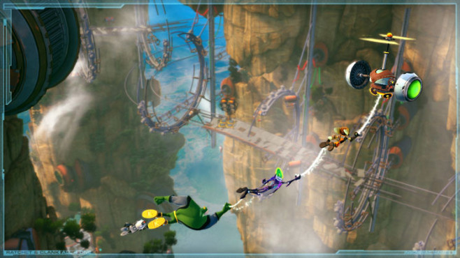 Geschicklichkeitsspiel Ratchet and Clank – All 4 One: Swingshot © Sony