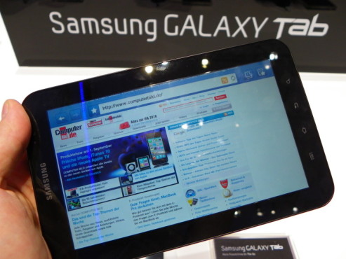 Tablet-PC: Samsung Galaxy Tab