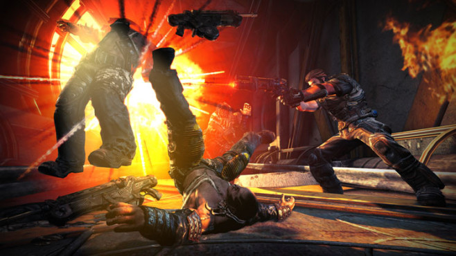 Actionspiel Bulletstorm: Feuer © Electronic Arts