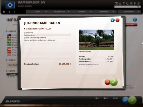 Komplettl�sung Fu�ball Manager 11: Jugendcamps © Electronic Arts