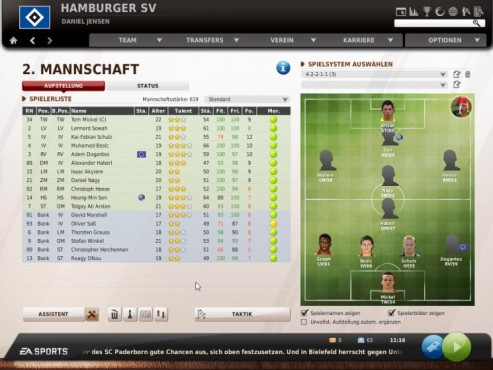 Komplettl�sung Fu�ball Manager 11: Spielpraxis © Electronic Arts