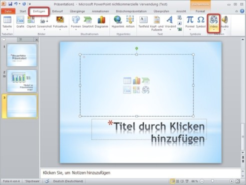 Office 2010: Video einfügen