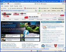 """Internet Explorer 8: Der """"Internet Explorer"""" trumpft in Version 8 mit praktischen Such- und Sicherheitsfunktionen auf."""