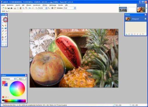 Paint.NET: Auswahl bearbeiten und verschieben