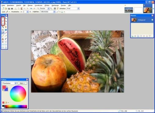Paint.NET: Auswahlwerkzeuge nutzen