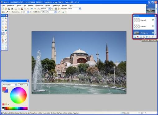 Paint.NET: Bild-Ebenen verwalten