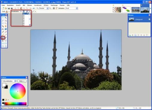 Paint.NET: Bildteile klonen