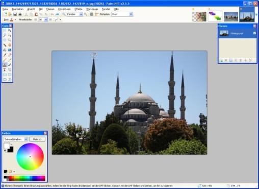 Paint.NET: Bildteile kopieren