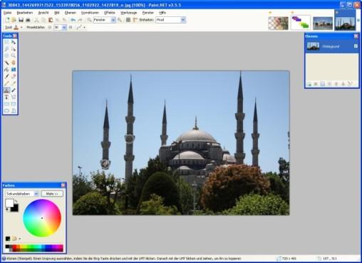 Paint.NET: Bildteile �bermalen