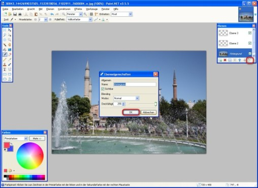 Paint.NET: Eigenschaften der Ebenen ver�ndern