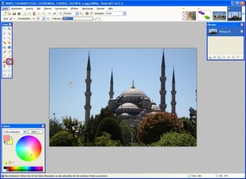 Paint.NET: Farben austauschen