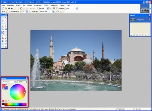 Paint.NET: Farben ausw�hlen