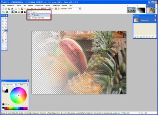 Paint.NET: Farbverl�ufe anpassen