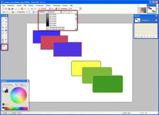Paint.NET:Paint.NET: Formen einf�gen