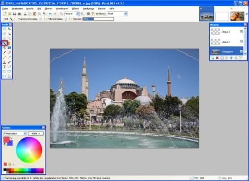 Paint.NET: Zauberstab nutzen
